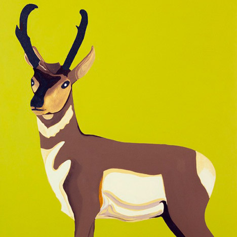 Ryan Jason Allen Willert's Pronghorn 24 x 36 inch acrylic on canvas painting