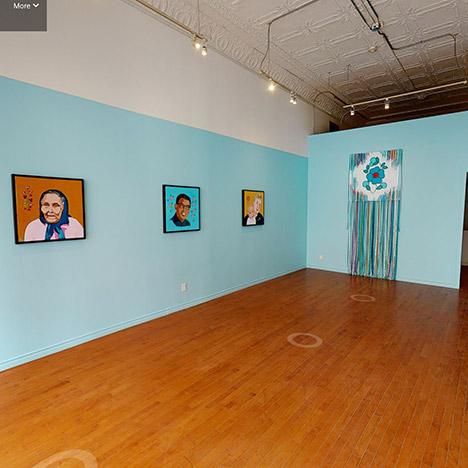 Exhibition view of Bruno Canadien: Séot'ı̨e via Matterport 3D Scan